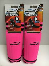 Lot Of 2  BRINE PAIR OF SOCK'R SHINGUARD PINK MEDIUM YOUTH UP TO 5ft 3in