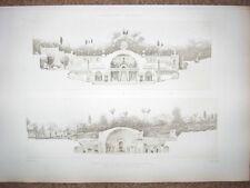 214 ~ HADRIAN'S VILLA ADRIANA TIVOLI THEATRE BATHS ~ 1910 Architecture Art Print