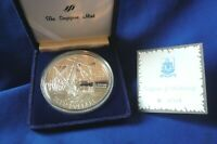"""1987 """"Sea Venture Wreck-1609"""" Singapore Mint 5 Oz .999 Silver Proof Coin Round"""