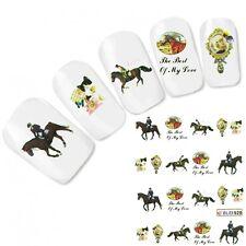 Cavallo Tatuaggio Adesivo per unghie gatto adesivo HORSE NAIL ART UNGHIE