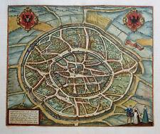 DEUTSCHLAND AACHEN AQUISGRANUM VULGO AICH BRAUN HOGENBERG WAPPEN KOLORIERT 1581