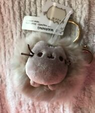 Pusheen the Cat keychain by GUND NWT grey fluffy