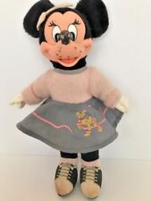 """Plush doll from Walt Disney by Applause Sock Hop Minnie Mouse stands about 11"""""""