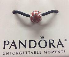 Authentic Pandora Sterling Silver Red Enamel Vines Bead 790525EN17