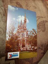 Postcard Walt Disney World Cinderella Castle Amtrak  Orlando