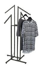 Clothes Rack Four Way 4 Slant Arms Clothing Garment Retail Display 72""