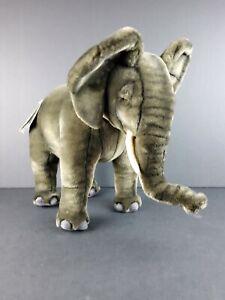 "Hansa African Elephant Cub 3824 Plush Soft Toy 20"" Portraits of Nature NWT NEW"