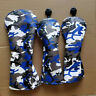 3x Golf Wood Club Protect Cover Camo Driver Fairway Wood Headcover For Ping PXG