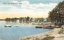 Monponsett Massachusetts West Lake Waterfront Antique Postcard K76671