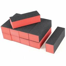 10 x Black Red Nail Polisher 4 Way Buffer Buffing Block Manicure File