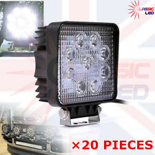 20X 27W Square LED Flood Work Light john deere valtra fendt Tractor 12V 24V IP67