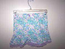 Toddler girls size 5T skirt Purple blue Flowers Wonder Kids 5 T Skirt ruffle