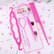 4 Pcs/Set Styling Clip Bun Maker Hair Twist Braid Ponytail Tool Accessories