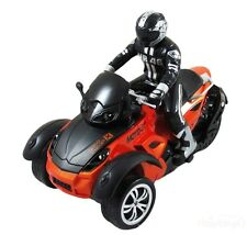 Haktoys HAK142 MotoHawk 3 Wheeled ATV RC Motorcycle w/ LED HeadLights - 2 Colors