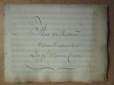 MS MUSICAL XVIII° de CIMAROSA : TI ASPETTA IN TRONO, 48 pp.