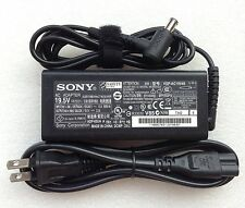 New Original OEM Sony 65W 19.5V AC Adapter for Vaio Fit 15E SVF1521A2EB Notebook