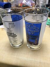Official Breeders Cup 1988 Glass Churchill Downs Kentucky Derby Horse Vintage !!