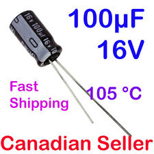 5pcs 100uF 16V 6.3x11mm 105 °C Nichicon PW For PC TV AUDIO VIDEO TFT ACL LCD DVD