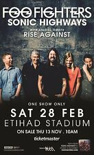 FOO FIGHTERS /RISE AGAINST 2015 MELBOURNE, AUSTRALIA CONCERT TOUR POSTER-Nirvana