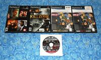 5 Sony PlayStation 2 Video Games Star Wars Battlefront II 24 Killzone and more