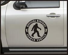 Official Bigfoot Search Vehicle Vinyl Sticker Door Decal Sasquatch car truck 4x4