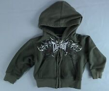 Toddler Boy's TapouT Green Hoodie Full-Zip Hooded Sweatshirt - Size 2T