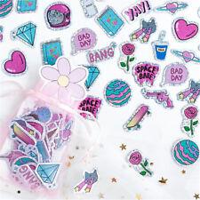 100Pcs/Bag Kawaii Cartoon PVC Flashing Sticker Scrapbooking DIY Diary Stickers``