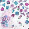 100Pcs/Bag Kawaii Cartoon PVC Flashing Sticker Scrapbooking DIY Diary Stick NIUS