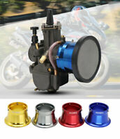 Motorcycle 55mm Carburetor Air Filter Cup With Mesh Net Velocity Stacks
