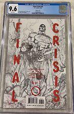FINAL CRISIS #6 Sketch Cover - CGC 9.6 - Rare!