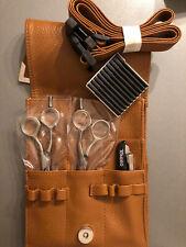 Tondeo SLIM Scheren Set 7144+7145 Offset 5,5 Zoll +Klingen +Messer+beige Tasche