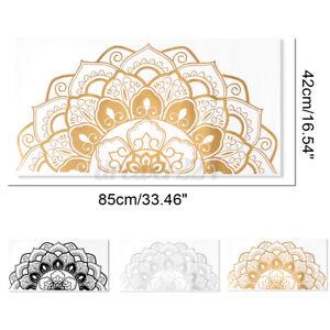 "33X16"" PVC Half Mandala Wall Art Sticker Decal Home Room Mural Decor Fashion"