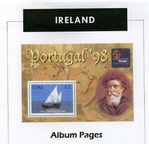 Ireland CD-Rom 1922-2017 Color Illustrated Album Pages