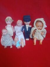 Lot of 7 Celluloid Dolls
