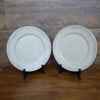 "Set 2 Lenox Cosmopolitan Collection KINGSTON Platinum Rim 10 3/4"" Dinner Plates"
