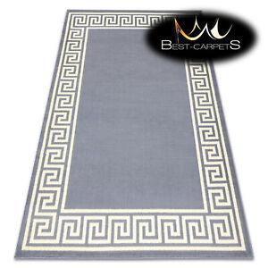 "MODERN DESIGNS & CHEAP BCF RUGS ""BASE""  grey / ivory GREEK frame Best-Carpets"