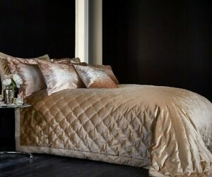 Valentina gold velvet bedspread 235x235cm double or king size bed RRP £75