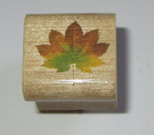 Maple Leaf Rubber Stamp New Tree Leaves Wood Mounted Fall Woods Turkey Feathers