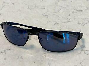 Oakley Splinter Sunglasses, Matte Black Frame, Blue Polarized Lenses, Excellent