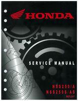 Honda NSS 250 A S AS REFLEX 2001 2002 2003 2004 2005 2006 2007 Service Manual