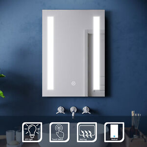 Bathroom Illuminated LED Mirror or Cabinet with Demister 500x700mm Wall Mounted