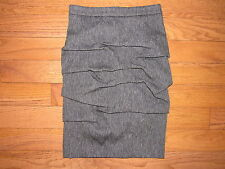 Yigal Azrouel Gray Silver Ruched Pencil Skirt size 0