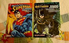 DC COMICS BATMAN SUPERMAN 2 PACK JUMBO COLORING BOOKS WITH TEAR SHARE PAGES