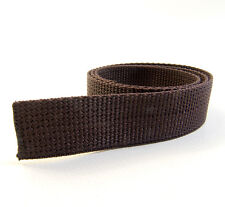 """Webbing, 1"""" Inch Brown Polypropylene Sold By-The-Yard 36"""" Ships from The USA!"""