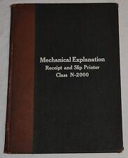 NCR National Cash Register Class N-2000 Mechanical Explanation Manual Book 1929