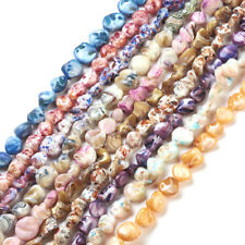 20 Strds Natural Freeform Shell Beads Nugget Chip Wholesale Loose Beads 13~15mm