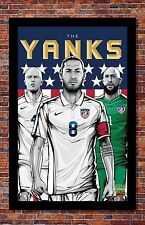 FIFA World Cup Soccer Event Brazil | TEAM USA Poster | 13 x 19 inches