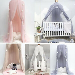 Baby Lace Crib Tent Round Dome Hanging Curtain Mosquito Net Kids Room Decor hea