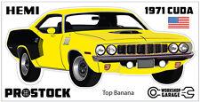1971 Plymouth Hemi Cuda Sticker - E BODY - Top Banana