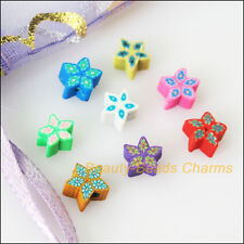 50Pcs Mixed Polymer Fimo Clay Star Flat Spacer Beads Charms 6mm
